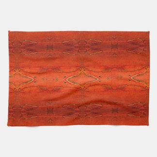 Linge De Cuisine Motif aztèque orange