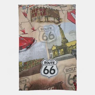 Linge De Cuisine Motif coloré de collage de l'itinéraire 66