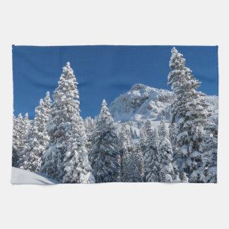Linge De Cuisine Neige de paysage d'hiver