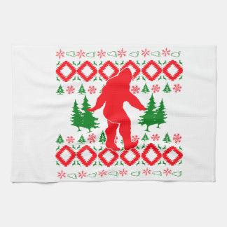 Linge De Cuisine Noël laid Bigfoot