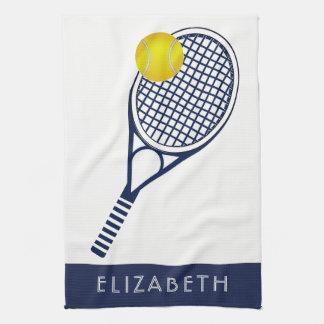 Linge De Cuisine Nom ou monogramme personnalisé par tennis
