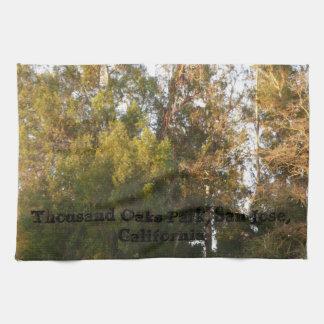 Linge De Cuisine Parc de Thousand Oaks d'arbres d'eucalyptus, San