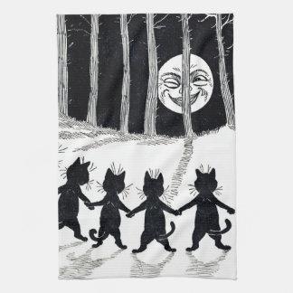 Linge De Cuisine Pleine lune et chats, Louis Wain