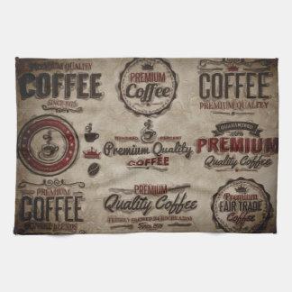 Linge De Cuisine Rétros étiquettes de café pour des amants de café