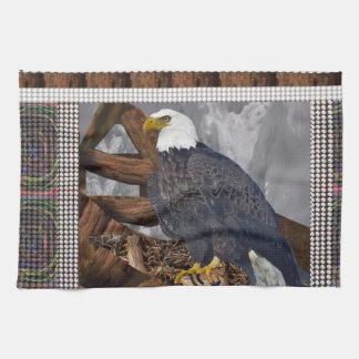 Linge De Cuisine Roi d'EAGLE d'oiseau d'habitat de Nord-américain