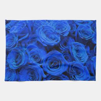 Linge De Cuisine Roses bleus