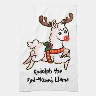 Linge De Cuisine Rudolph le lama au nez rouge