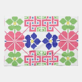 Linge De Cuisine sym ethnique traditionnel de motif de motif de