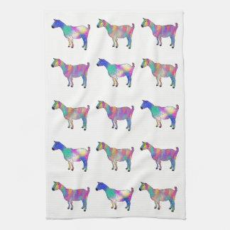 Linge De Cuisine Un bon nombr'animaux d'art de chèvres colorées