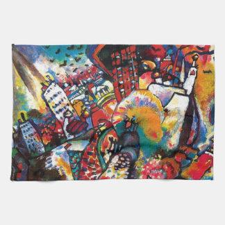 Linge De Cuisine Wassily Kandinsky - art abstrait de paysage urbain