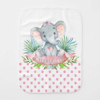Linges de bébé de bébé d'éléphant de fille