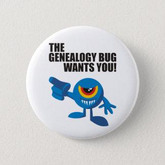 L'insecte de généalogie vous veut ! badge rond 5 cm