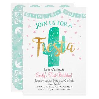 L'invitation de cactus de fiesta, se carton d'invitation  12,7 cm x 17,78 cm