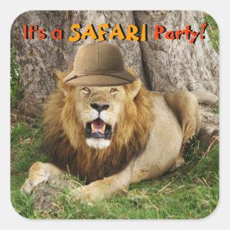 Lion chez Maasai Mara 1 Sticker Carré