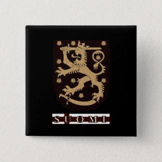 Lion de la Finlande Badge Carré 5 Cm