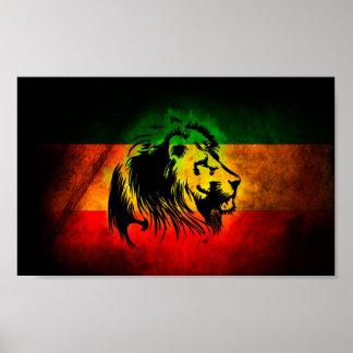 Lion de Rasta Poster