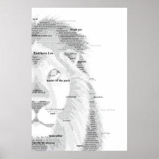 Lion de typographie