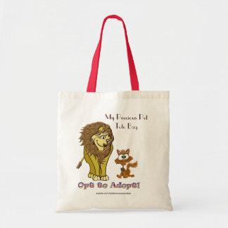 Lion et bande dessinée de Kitty Tote Bag