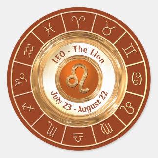 LION - le signe astrologique de lion Sticker Rond