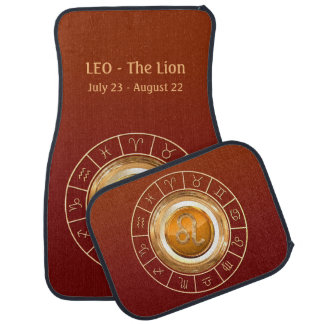 LION - le signe de zodiaque de lion Tapis De Sol