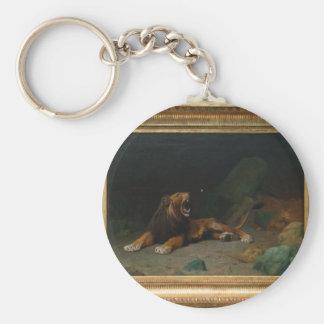 Lion se cassant à un papillon par Jean-Léon Gerome Porte-clés