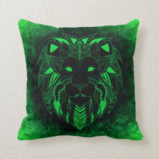 Lion vert, coussin ornemental de lion