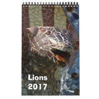 Lions dans le calendrier 2017 d'architecture
