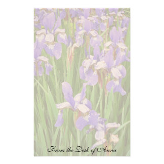 L'iris fleurit la papeterie florale de