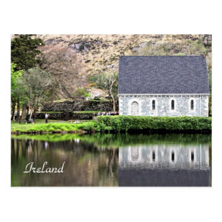 L'Irlande, église, mur en pierre, lac, Cartes Postales