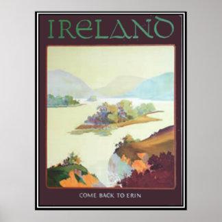 L'Irlande, revenue à la copie d'Erin Poster