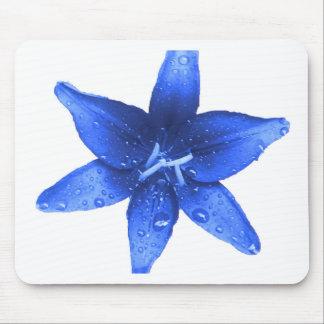 Lis bleu brillant tapis de souris