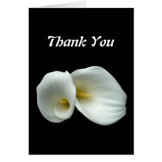 Lis d'arum blancs carte de vœux