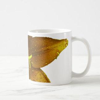 Lis jaune d'or mug blanc