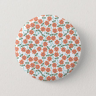 Lis Rouge-oranges gentils de couleur. Girly Badge Rond 5 Cm