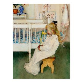 Lisbeth avec la tulipe jaune cartes postales