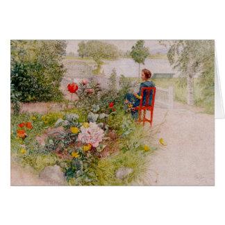 Lisbeth dans le jardin d'agrément carte de vœux