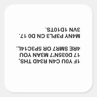 Lisez ceci sticker carré
