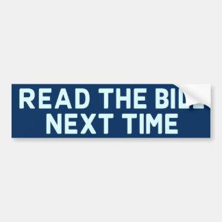 Lisez l'adhésif pour pare-chocs de Bill Autocollant De Voiture