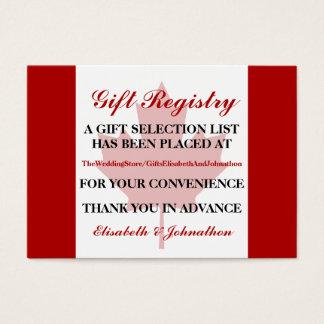 Liste de cadeaux canadienne de mariage de drapeau cartes de visite