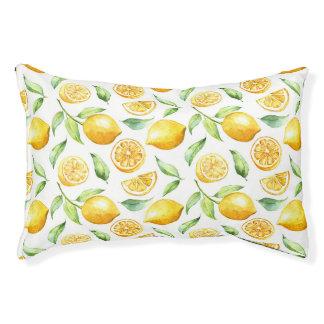 Lit de chien d'agrume de citron