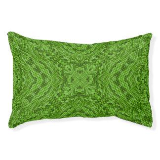 Lit d'intérieur ou extérieur coloré vert allant de