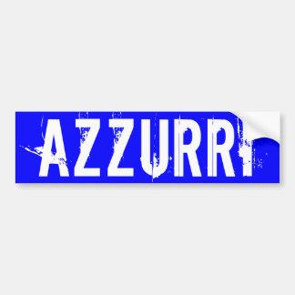 """L'Italie """"AZZURRI """" Autocollant Pour Voiture"""