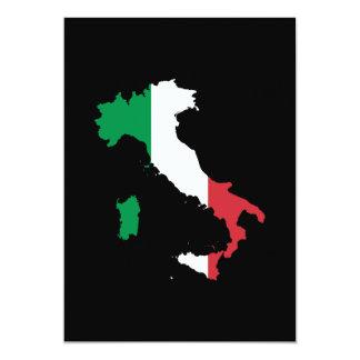 L'Italie dans des couleurs de drapeau Carton D'invitation 12,7 Cm X 17,78 Cm