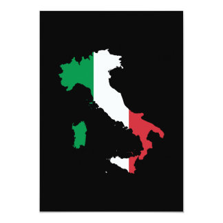 L'Italie dans des couleurs de drapeau Cartons D'invitation