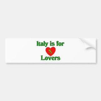 L'Italie est pour des amants Autocollant De Voiture