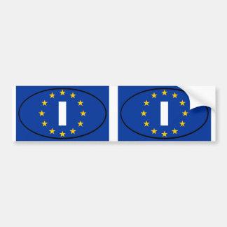 L'Italie - I - ovale d'Union européenne Autocollant Pour Voiture