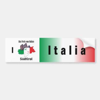 L'Italie - Italia autocollants de voiture Autocollant De Voiture