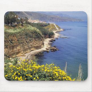L'Italie, Sicile. La côte du nord de la Sicile ded Tapis De Souris