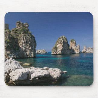 L'Italie, Sicile, Scopello, roches par la madrague Tapis De Souris