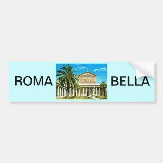 L'Italie vintage, Rome, les Mura de fuori de S Pau Autocollant De Voiture